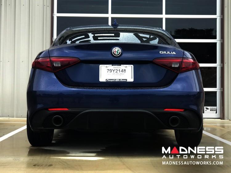 Alfa Romeo Giulia Performance Exhaust - 2.0L - MADNESS - Lusso - Blue Flame Tips